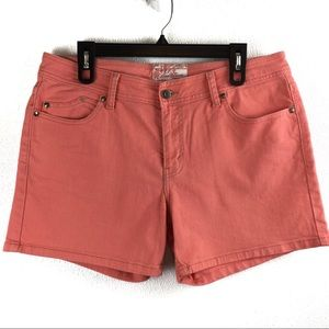 Levi's Bright Coral Denim Shorts